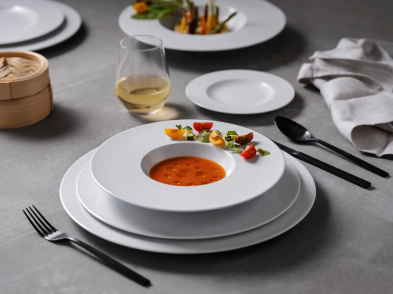 pratos com comida, coleção ecos, louça restaurante, louça hotelaria, louça moderna, pratos modernos, pratos de porcelana, serviço louça, serviço pratos, serviços de louça requintados, prato de sopa