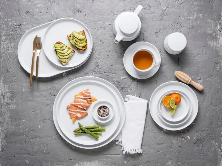 pratos com comida, pequeno-almoço, coleção nordika, coleção nordika rim, louça restaurante, louça hotelaria, louça moderna, pratos modernos, pratos de porcelana, serviço louça, serviço pratos, design nórdico, design escandinavo