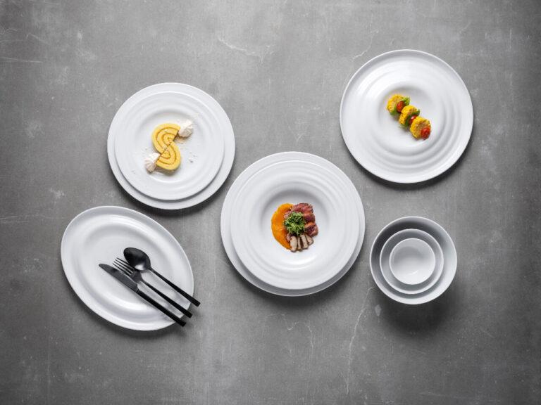 coleção Agma, louça hotelaria, louça restauração, serviços de louça, pratos de porcelana