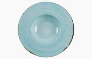 Prato Fundo 29cm Rustico Azul