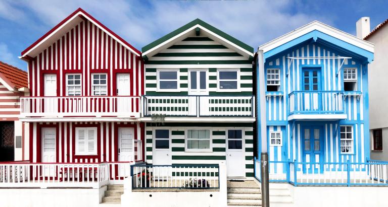 Casas coloridas da Costa Nova