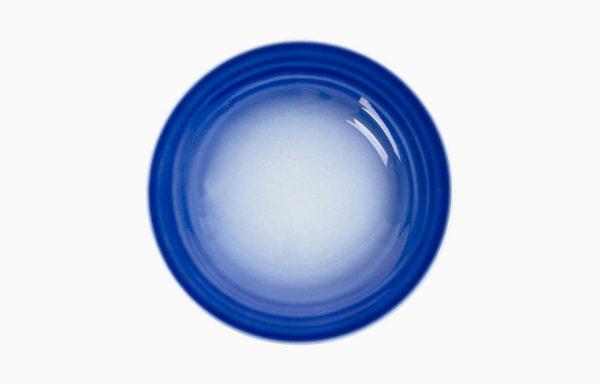 Prato 24Cm Agma Marino, Prato de refeição azul degradê. Prato de salada. Prato de sobremesa.
