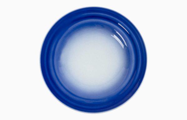 Prato 28Cm Agma Marino. Prato raso azul. Prato de refeição azul. Prato fundo azul. Prato de pasta, risotto ou salada.