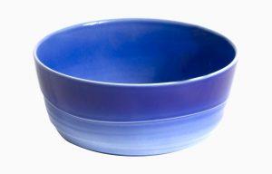 Saladeira 19Cm H8Cm Agma Marino. Saladeira média azul degradê. Taça grande para doce.