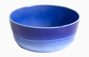 Saladeira 25Cm H10Cm Agma Marino. Saladeira grande azul degradê.