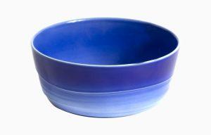 Taça 14Cm H6Cm Agma Marino. Taça de pequeno-almoço azul degradê. Taça de sopa. Saladeira individual.